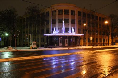 Обуховский з-д, козырек здания
